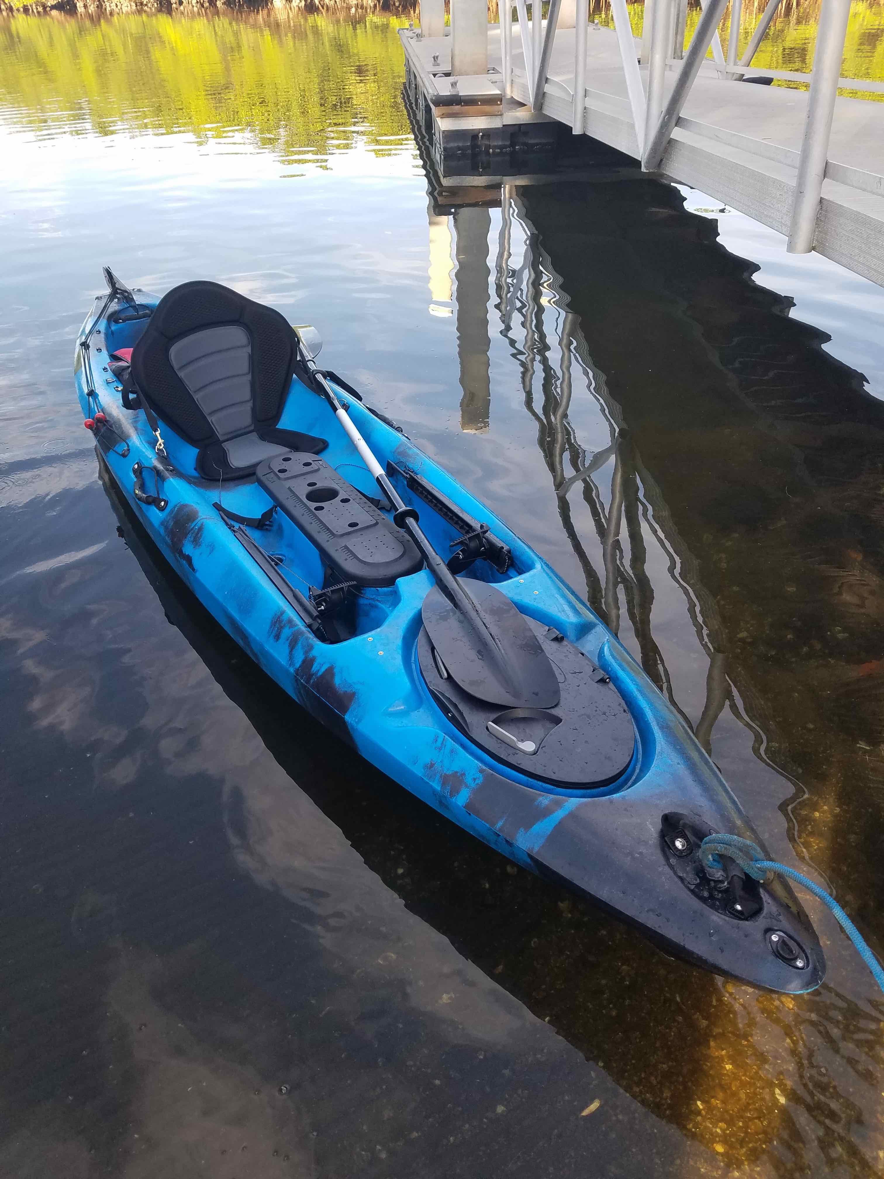 Freedom single fishing kayak liberty outdoors for Fishing from a kayak